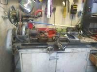 Old metal turning lathe