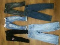Girls bundle of jeans 4/5 5/6