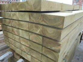 TREATED RAILWAY SLEEPERS 2400 X 190 X 90