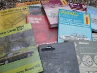 CLASSIC CAR REPAIR MANUALS ASSORTMENT...MAINLY HAYNES &On The Road Magazines £20 For All