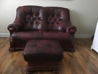 SOLID WOOD LEATHER SOFA SET FOR SALE