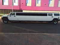 White Hummer H2 16 Seater limo fully licensed Best prices in London On the weddings and nights out