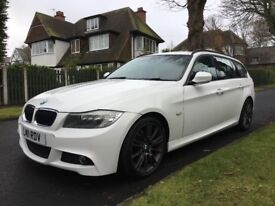 BMW 318D M-SPORT EDITION 2011 WHITE FULL SERVICE HISTORY