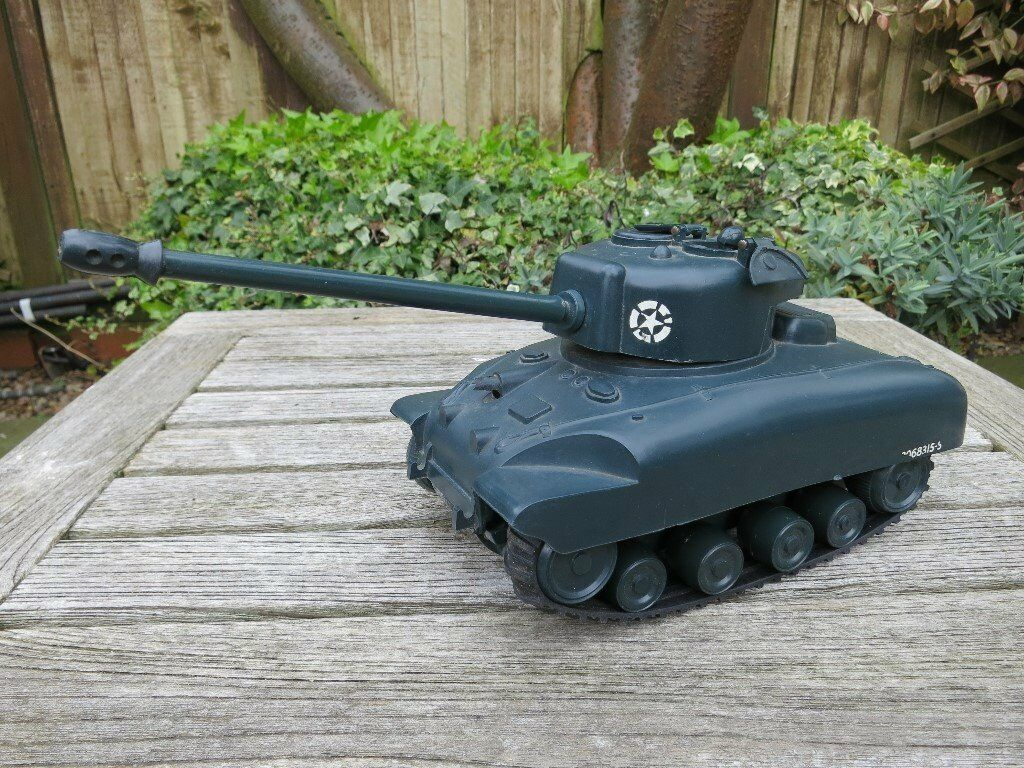 Vintage Tri-Ang Minic Clockwork Sherman Tank