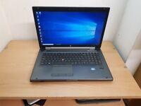 17 inches HP Quad Core i7-2670QM Laptop 2GB Graphics Card Windows 10 8GB RAM 500GB HDD