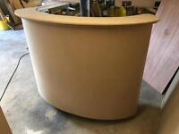 Curved reception cash desk