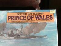Model kit, Tamiya. Battleship. Prince of Wales, 1 to 350. Unused, original condition. REDUCED