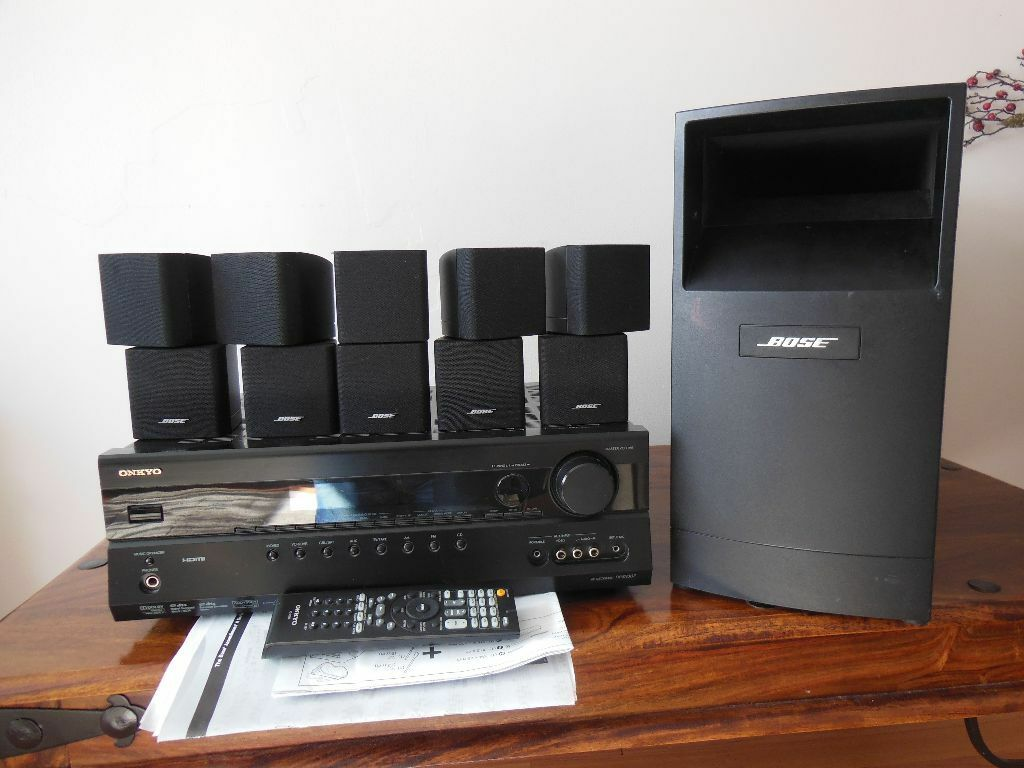 bose acoustimass 10 series iii speaker system onkyo txsr. Black Bedroom Furniture Sets. Home Design Ideas