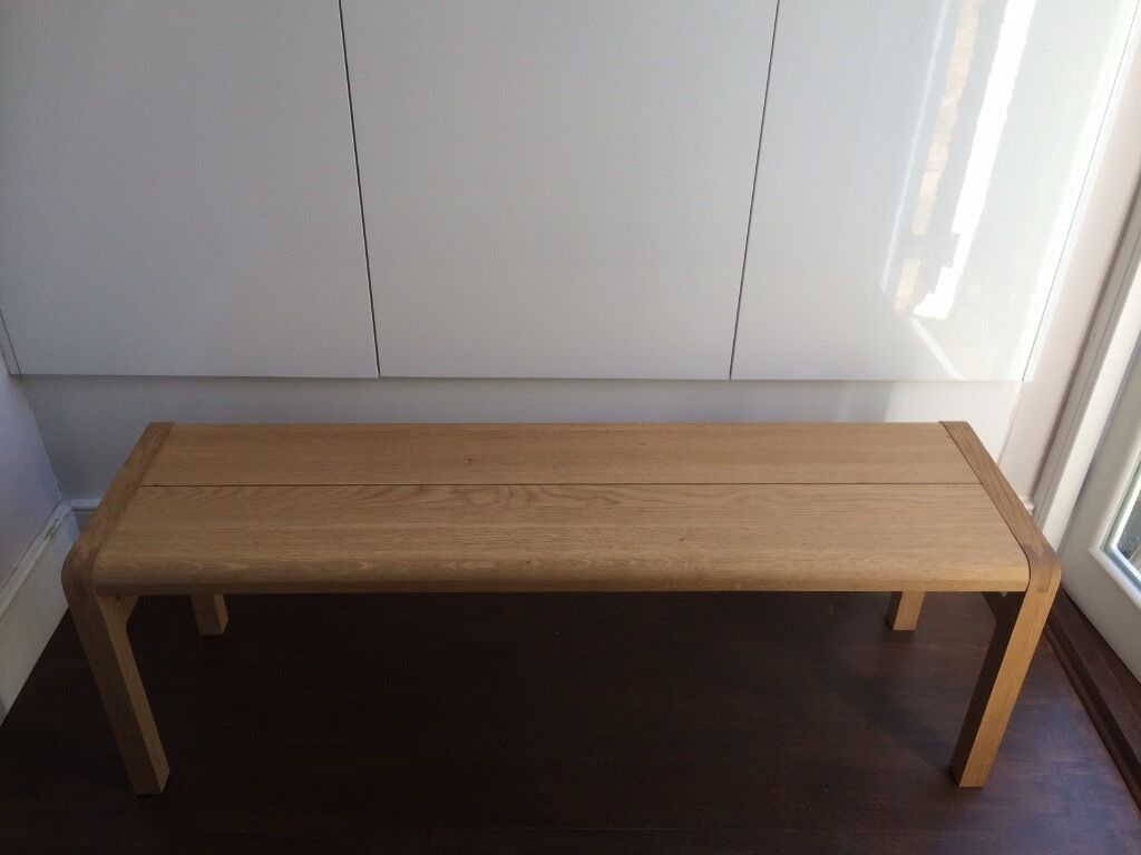 habitat radius oak kitchen table and bench for sale | in tooting