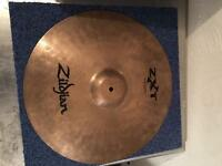 "Zildjian ZXT 18"" medium thin crash and Leedy boom stand"