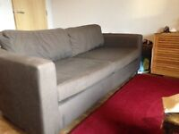 Brown 3 seater Habitat sofa