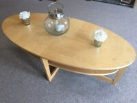 Wooden coffee / living room table