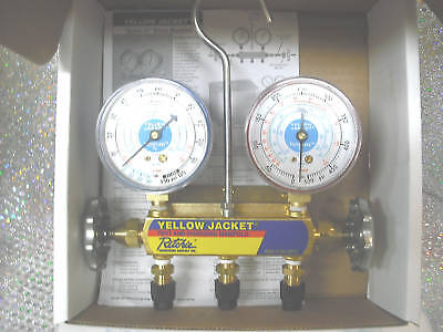 Yellow Jacket Gauge 2 Valve Manifold R134ar404ar507