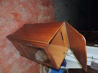furniture: natural yew wood cabinate