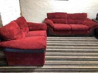Cord fabric sofa set