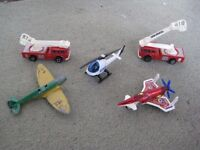 Toy planes, helicopter and fire tenders - £2.00 each