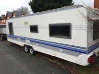 Caravan includes 1 separate bedroom, toilet room. Also included is a cooker/microwave.