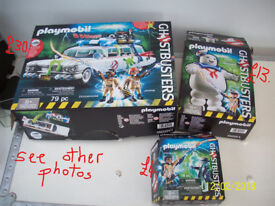 PLAYMOBIL GHOSTBUSTER TOYS, WITH BOXES
