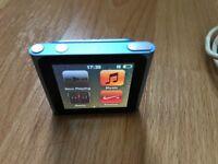 Apple iPod Nano 6th generation 16gb in Blue
