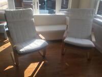 Two Ikea Pong Chair Cushions