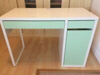 IKEA MICKE Desk with storage - green