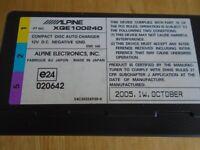 ALPINE XQE100240 COMPACT DISC AUTO CHANGER