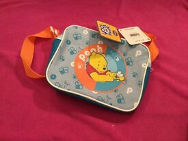 Winnie the pooh Lunch bag with strap with tags