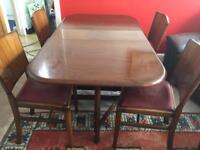 30's 40's Gate legged table and chairs