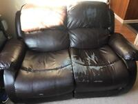 2 seater recliner sofa - £0 free to collect