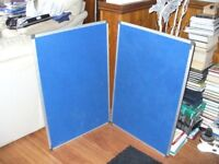 2 Notice Boards. Wall mounting. 60x90Cms.