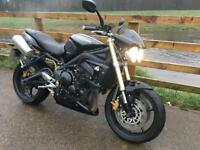 Triumph Street triple 675 cc naked sport bike 2010- Black – 10,800 miles