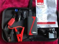 Hilka Car Booster Jump Starter Powerbank all in compact case - New £50 in shops, Bargain!