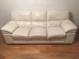 Leather 3 Seater Sofa 'Aldo'