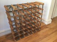 Wine rack oak and metal - 36 bottles - as new