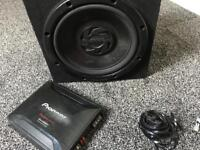 Pioneer subwoofer and amplifier