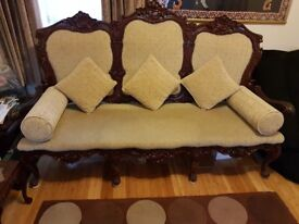 3 Antique Sofas with matching tables