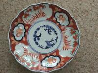 Japanese Imari design antique hand painted plate
