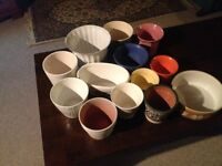 Selection of decorative indoor plant pots