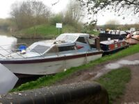 37ft sea master.. cabin cruiser.. widebeam. narrowboat.. project