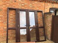 UPVC Brown Patio Doors and side panels