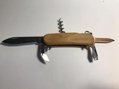 Usado, Wenger EVOGrip  85 mm WOOD Credit Agricole RARE Swiss Army Knife Messer Vintage segunda mano  Embacar hacia Argentina