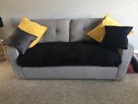 2 x Harvey's Grey large 3 seater sofas