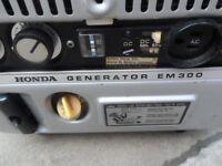 Honda EM300E Generator Vintage Classic Retro E300 EM300 Camper Bus VW Caravan