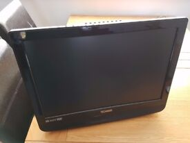Tecknika 18.5 tv/dvd combo with remote and wall bracket, free view