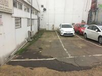 Open car park (spacious) off commercial road very close to CC zone, buses and Aldgate East tube st.