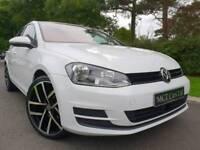 (Pure White) Sep 2013 Volkswagen Golf Mk7 1.6 Tdi SE BMT, £20 TAX! New 19 Inch GTI ALLOYS! FINANCE!