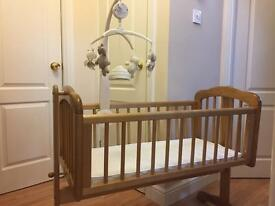 Mamas & Papas swing crib (will throw in Moses basket for free too!!)