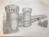 Picture/print of Cooling Castle in frame.