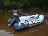 Zodiac inflatable dinghy with 5hp motor