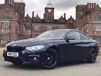 BMW 4 series coupe 420d midnight blue edition auto - service pack + mot protect + extras